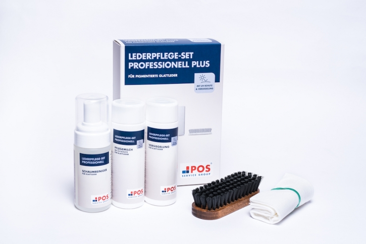 Lederpflege-Set Professionell Plus - 125 ml Schaumreiniger + 150 ml Pflegemilch+150 ml Versiegelung