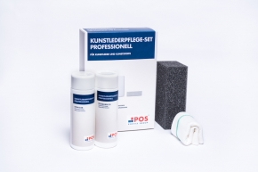 Kunstlederpflege-Set Professionell - 150 ml Kunstlederreiniger + 150 ml Kunstlederpflegemilch