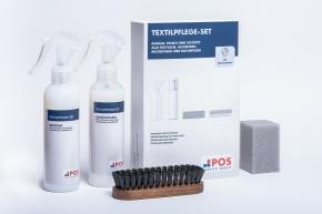 Textilpflege-Set Professionell - 250 ml Reiniger, 200 ml Imprägnierer, Reinigunsbürste, Tuch